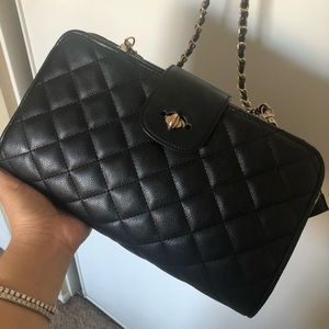 Handbags - Black quilted clutch